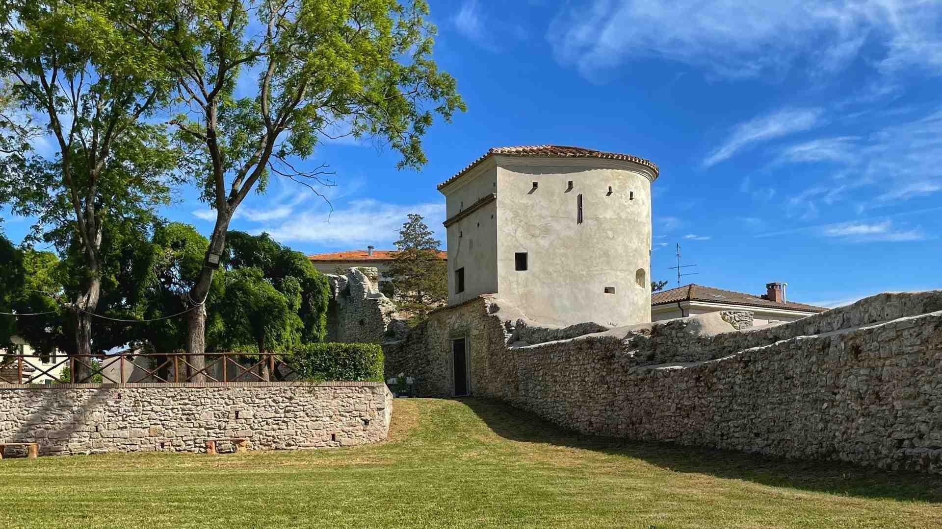acquasparta - palazzo cesi - giardino e torretta